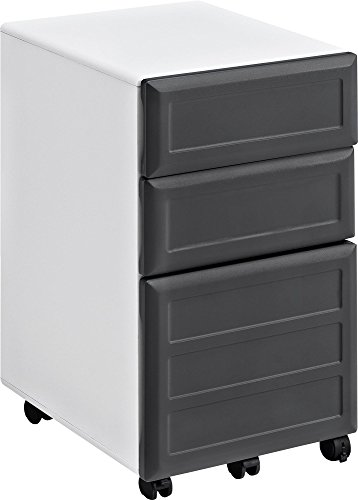 Ameriwood Home Pursuit Mobile File Cabinet, White
