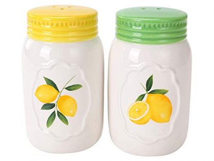White Ceramic Novelty COSYME Salt and Pepper Shakers Set of 2 for Vintage Pioneer Woman Popcorn Farmhouse Camping