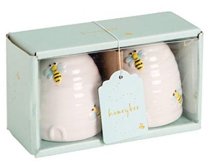 Home Essentials and Beyond Honey Bee Beehive Salt and Pepper Shakers 86503 2.2 Inches x 2.2 Inches x 2.4 Inches