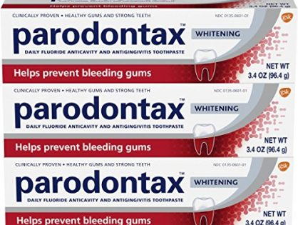 Parodontax Bleeding Gums and Gingivitis Toothpaste, Whitening, 3.4 Ounce Pack of 3