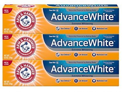 Arm & Hammer Advance White Extreme Whitening with Stain Defense, Fresh Mint, 6 oz, 3 Count Packaging May Vary