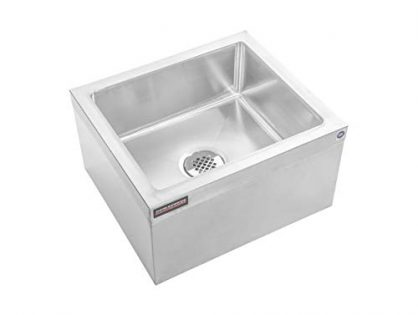"NSF Certified - 19"" W x 22"" L x 12"" H Commercial kitchen, Restaurant, Business, Garages, Basements - DuraSteel Stainless Steel Floor Mount Mop Sink/Basin with Sink Drainage/Strainer"