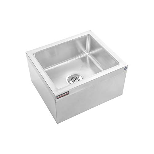 "NSF Certified - 19"" W x 22"" L x 12"" H Commercial kitchen, Restaurant, Business, Garages, Basements - DuraSteel Stainless Steel Floor Mount Mop Sink/Basin with Sink Drainage/Strainer"