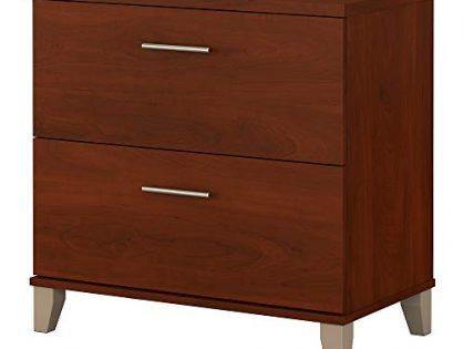 Bush Furniture Somerset Lateral File Cabinet in Hansen Cherry