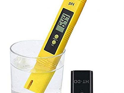 Digital PH Meter PH Tester 0.01 PH High Accuracy Water Quality Tester with ATC for Household Drinking Water, Swimming Pools, Aquariums, Hydroponics Yellow