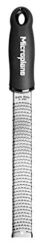 Microplane 46020 Premium Classic Series Zester Grater, 18/8, Black