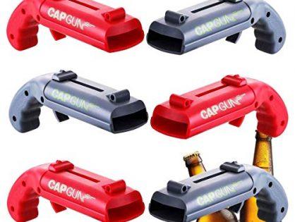 Cap Gun Bottle Opener,Beer Cap Gun Shooter Home Party Drinking Bottle Laucher Over 5 Meters Game Player 6 Packs