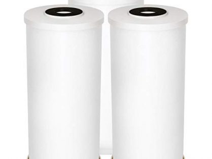 "AQUA CREST FXHTC 10"" x 4.5"" Whole House Big Blue Sediment Replacement Water Filter for GE FXHTC, American Plumber WRC25HD, GXWH35F, GNWH38S, Pack of 3"