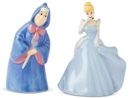 Enesco 6003745 Disney Ceramics Cinderella and Fairy Godmother Salt and Pepper Shakers, 3.5 Inch, Multicolor