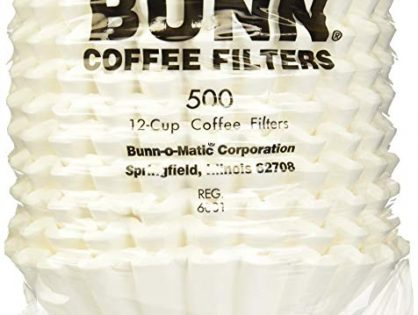 Bunn 20115.0000 1000 Count 12 Cup Commercial Coffee Brewer Filters, White 1000