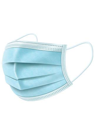 100 Pack Disposable Face Masks with Elastic Ear Loop 3 Ply Breathable and Comfortable for Air Pollution Flu Protection Blue