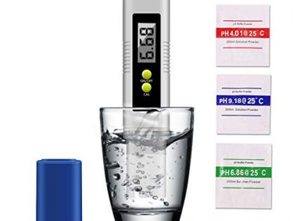 PH Meter, Digital PH Meter 0.01 PH High Accuracy Water Quality Tester with 0-14 PH Measurement Range for Household Drinking, Pool and Aquarium Water PH Tester Design with ATC