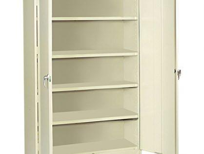 "Tennsco J2478SU Heavy Gauge Steel Jumbo Storage Cabinet, 5 Shelves, 400 lbs Capacity per Shelf, 48"" Width x 78"" Height x 24"" Depth, Putty"