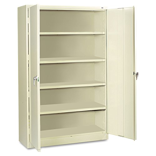 "Tennsco J2478SU Heavy Gauge Steel Jumbo Storage Cabinet, 5 Shelves, 400 lbs Capacity per Shelf, 48"" Width x 78"" Height x 24"" Depth, Putty"