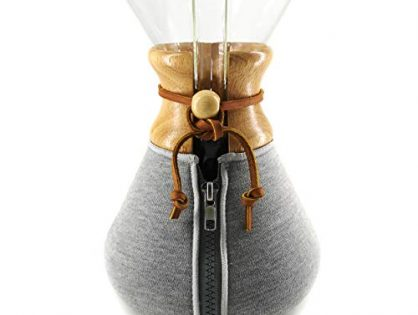 fits Chemex Collar and Handle Versions 10 Cup Chemex Cozy - Hexnub Coffee Cozy for Chemex Filtered Pour Over Coffee Makers Keeps Your Coffee Warm