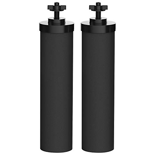 AQUACREST BB9-2 Black Water Filter, Compatible with BB9-2 Black Purification Elements and Gravity filter systemPack of 2