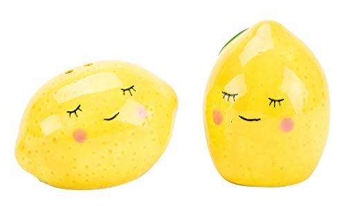 Boston Warehouse 64992 Salt & Pepper Shaker Set Lemons, 2-Piece