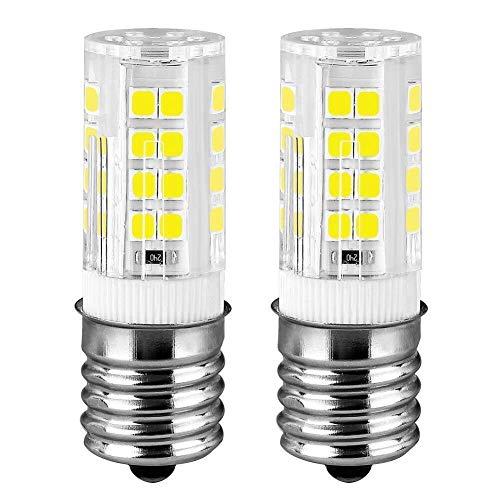 E17 LED Microwave Oven Stove Bulb, 40W Incandescent Equivalent, AC 110V-130V, Daylight White Appliance Bulb 6000K, 2-Pack Daylight White