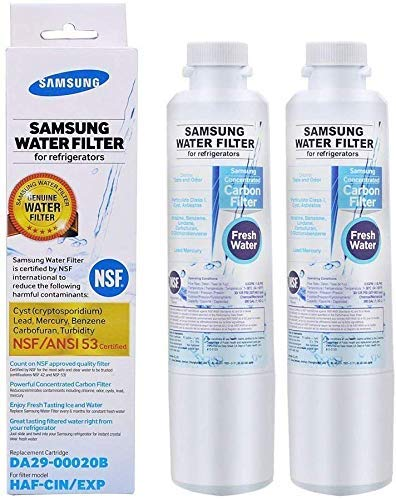 DA29-00020B Water Filter, Replacement for Samsung HAF-CIN, DA29-00020A, DA97-08006A, HAF-CIN/EXP, 46-9101, NSF 53&42 Certified to Reduce 99% of Lead & More2-PackPackaging May Vary