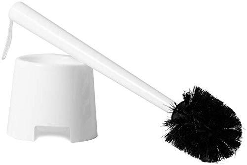Klickpick Home Toilet Bowl Cleaner Brush with Toilet Holder Caddy White, Pack of 1