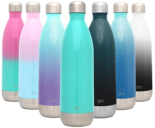 Simple Modern 34 Ounce Wave Water Bottle - Stainless Steel Liter Double Wall Vacuum Insulated Leakproof -Oasis
