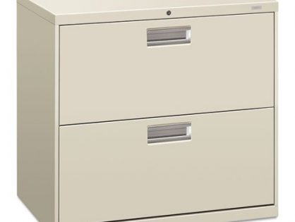HON 672LQ 600 Series 30-Inch by 19-1/4-Inch 2-Drawer Lateral File, Light Gray