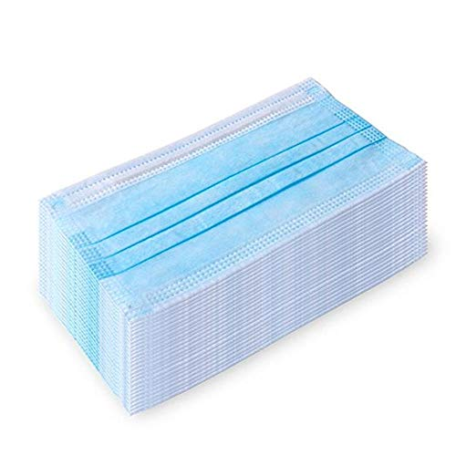 100Pcs Disposable 3-Layer Masks, Anti Dust Breathable Disposable Earloop Mouth Face Mask, Comfortable Medical Sanitary Surgical Mask