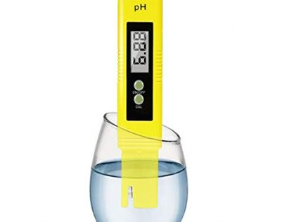 Digital PH Meter Water Quality Tester 0.01 Accuracy Measurement Range 0-14PH Automatic Temperature Compensation ATC Drinking Water Hydroponics Spa Aquarium RO System(Yellow)