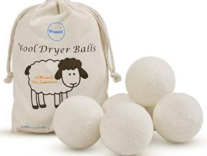 Wool Dryer Balls 6-Pack XL Laundry Dryer Balls Reusable Natural Fabric Softener New Zealand Organic Wool Handmade Reduce Wrinkles & Shorten Drying Time by WANTELL White, XL