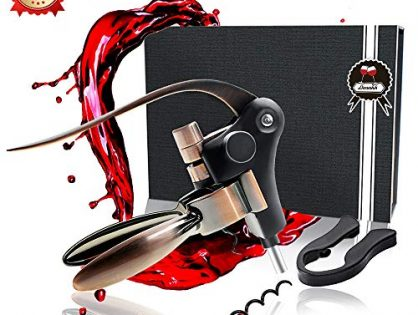 Wine Opener Set Rabbit Wine Bottle Opener Zinc Alloy Stainless Steel ABS Easy to Use Foil Cutter Replacement Spiral Wine Bottle Opener Set Gift Box