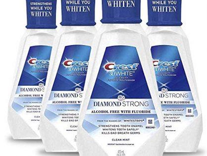 Crest 3D White Diamond Strong Mouthwash, 473 Ml, 4 Count
