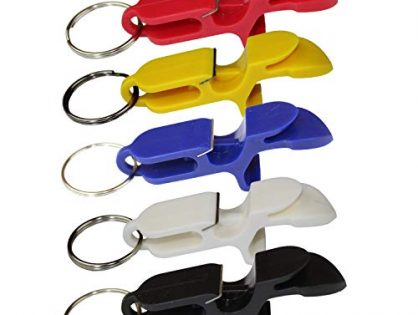 Shotgun tool bottle opener keychain - great for parties, party favors, gift, drinking accessories - 5 pack - beer bong shotgunning tool