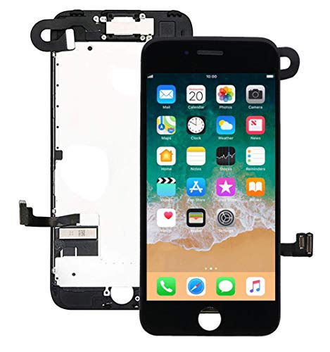 "for iPhone 7 Plus Screen Replacement Kit Black 5.5"" LCD Display Nroech iPhone 7 Plus Replacement Touch Screen Digitizer Full Assembly with Front Camera+ Earpiece+ Repair Tools Kit+ Screen Protector"