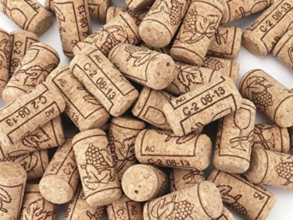 "100 Count - Tebery #8 Natural Wine Corks Premium Straight Cork Stopper 7/8"" x 1 3/4"", Excellent for Bottled Wine"