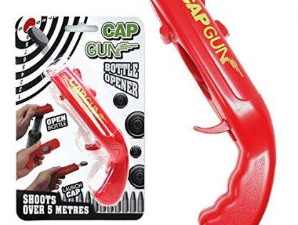 Bottle Cap Gun Opener,Funny Bottle Opener Cap Gun Launcher Shooter Beer Openers Easily Recycle Caps red, 1