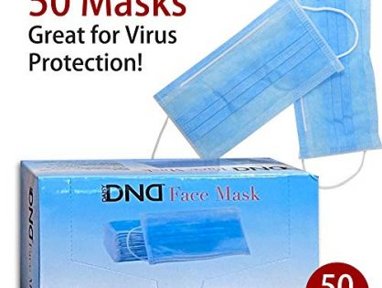 Disposable Medical Face Mask - Thick 3Ply Medical Masks with Comfortable Earloop, Great for Dust, Germ and Virus Protection and Personal Health 50pcs, Blue