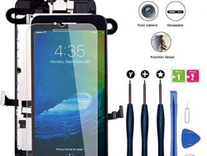 "for iPhone 8 Plus Screen Replacement Black 5.5"", LCD Display Touch Digitizer Assembly Replacement with Front Camera+ Earpiece Speaker+ Repair Tools Kit+ Screen Protector iPhone 8 Plus Screen Black"