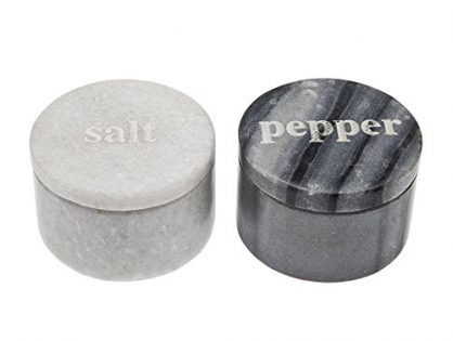 Godinger Covered Marble Black and White Salt & Pepper