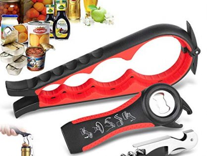 Jar Opener, Bottle Opener Can Openers for Seniors with Arthritis, Jar Opener Opener for Weak Hands, 5-in-1 and 3-in-1 Multi Kitchen Tools Set for Children, Women and Seniors with Arthritis