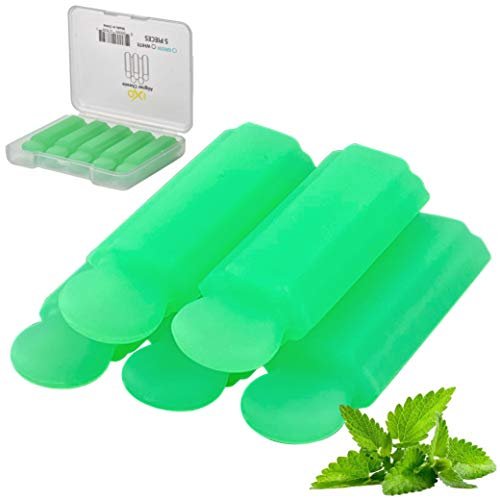 IXO 5 Pack Aligner Seater Chewies With Grip Handle for Invisalign Aligners, Mint Scent, With Storage Case Green