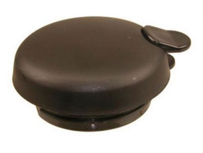 Service Ideas FVPL Coffee Carafe Lid with Black Regular Trigger for Steel Vac Coffee Carafes