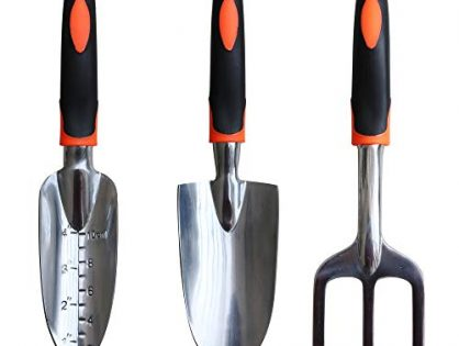 Gardening Gifts Tool Set Including Trowel, Cultivator Hand Rake, Transplant Trowel - XLD Garden Tool Set