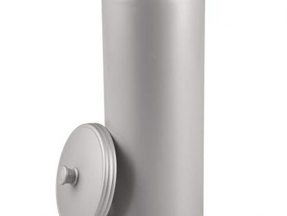 Gray - iDesign Kent Bathware, Free Standing Toilet Paper Roll Holder for Bathroom Storage