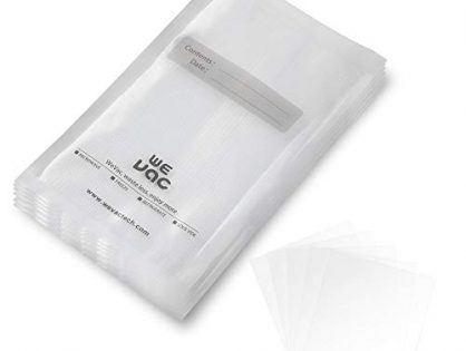 Vacuum Sealer Bags 100 Pint 6x10 Inch for Food Saver, Seal a Meal, Gamesaver, Weston. Commercial Grade, BPA Free, Heavy Duty, Puncture Prevention, Great for vac storage, Meal Prep or Sous Videion, Great for Meal Prep or Sous Vide