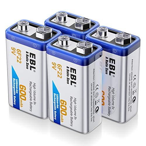 Top 10 EBL 9V Rechargeable Batteries - 9V Batteries