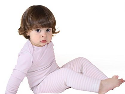 Woolino Baby Girls Pajama Set, Long Sleeve, Merino Wool, 1-2 Years, Lilac