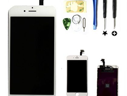 PassionTR Retina LCD Touchscreen Digitizer Frame Assembly Full Set Replacement Screen for iPhone 6 PLUS5.5 inchwith Instruction card and tools in White