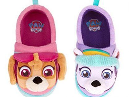 Nickelodeon Paw Patrol Toddler Girls Slippers Skye Everest M 7-8