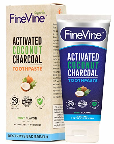 Made in USA – REMOVES BAD BREATH andTOOTH STAINS-Best Natural Toothpaste forHerbal Decay Treatment - Activated CharcoalTeeth Whitening Toothpaste - Mint flavor.
