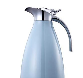 Double Walled Vacuum Insualted Thermos/Carafe with Lid - Coffee/Tea Carafe Heat & Cold Retention - Bonnoces 68 Oz Stainless Steel Thermal Carafe - 2 Liter